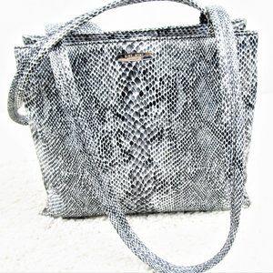 Snakeskin Shoulder Bag By Nine West